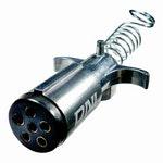 Tomada de Engate Macho (Móvel) Redonda 6 Polos Polarizada em Alumínio Reforçado - DNI - DNI 8362 - Unitário