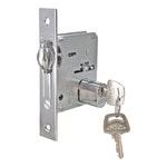 Trinco Rolete para Porta Pivotante Cromado Escovado 45mm