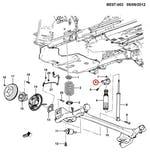 Coxim do Amortecedor - Original Chevrolet - 96853910 - Unitário
