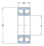 Rolamento de esferas de contato angular - SKF - 7302 BECBP - Unitário