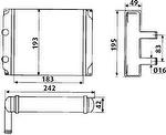 Radiador de Aquecimento - Valeo - T104001R - Unitário