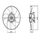 Eletroventilador - Valeo - 698845R - Unitário