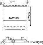 Radiador de Resfriamento - Valeo - TA008001R - Unitário