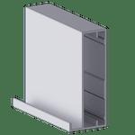 Perfil Puxador 1045 Anodizado - c/ 6m