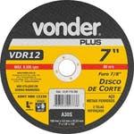 Disco de Corte VDR12 180 x 3,2 x 22,23mm - Vonder - 12.07.718.780 - Unitário