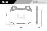 Pastilha de freio - Fras-le - PD/43 - Par