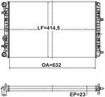 Radiador de Resfriamento - Valeo - 735146R - Unitário