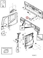 Grade Alto Falante do Forro da Parede Traseira Direito - Volvo - 82382234 - Unitário
