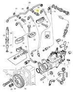 Conexão do Tubo do Bico de Combustível - PERKINS - 3355E005 - Unitário