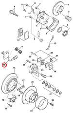 Sensor de Desgaste da Pastilha de Freio - Original Chevrolet - 90305792 - Unitário