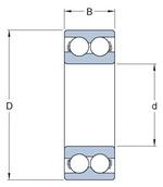 Rolamento de esferas de contato angular - SKF - 3201 A-2RS1TN9/MT33 - Unitário