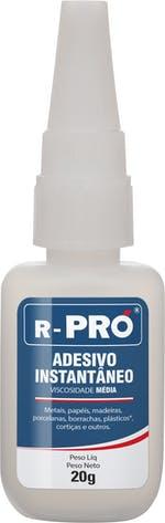 Adesivo Instantâneo Ultra Rápido R-PRÓ 20g
