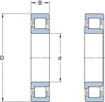 Rolamento de Rolos Cilíndricos - SKF - NJ 305 ECP - Unitário