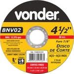 Disco de Corte BNV 02 115 x 1,6 x 22,23mm - Vonder - 12.08.012.412 - Unitário