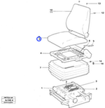 Forro para Estofamento - Volvo CE - 11996163 - Unitário