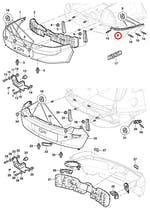 Trilho Guia Lado Direito Do Parachoque Traseiro Sedan - Original Chevrolet - 93263056 - Unitário