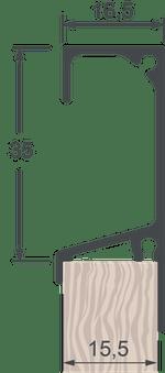 Perfil Puxador 5046T Jateado Anodizado com 6,0m