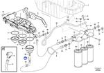 Niple da Carcaça do Filtro de Óleo - Volvo CE - 17225941 - Unitário