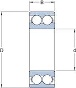 Rolamento de Esferas de Contato Angular - SKF - 3309 A - Unitário