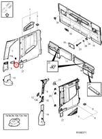 Tampa da Alça de Acesso da Cabine Dianteiro Direito - Volvo - 82862132 - Unitário