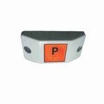 Chave Comutadora de Parada Solicitada para Ônibus 12/24V Contato N.A c/ Plano Horizonal Plano-Cinza - DNI - DNI 8816 - Unitário