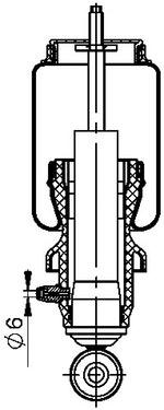 Mola da Cabine - Contitech - 73946 - Unitário