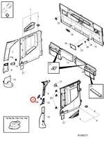 Tampa da Alça de Acesso da Cabine Dianteiro Esquerdo - Volvo - 82862131 - Unitário