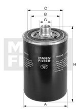 Filtro Blindado do Óleo Lubrificante Q3 2014 - Mann-Filter - W719/45 - Unitário
