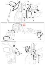Capa Moldura Do Espelho Retrovisor Externo Lado Esquerdo Primer - Original Chevrolet - 93326263 - Unitário