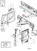 Grade Alto Falante do Forro da Parede Traseira Esquerdo - Volvo - 82332540 - Unitário