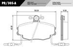 Pastilha de freio - Fras-le - PD/305-A - Jogo