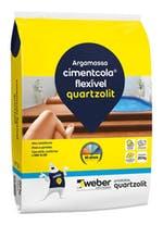 Argamassa Cimentcola Flexível Cinza 20kg Tipo ACIII Embalagem Papel - Quartzolit - 0069.00001.0020PA - Unitário