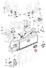 Moldura Da Maçaneta Da Tampa Traseira - Original Chevrolet - 15007219 - Unitário