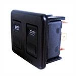 Interruptor de Vidro Elétrico Duplo - 12V - DNI 2014 - DNI - DNI 2014 - Unitário