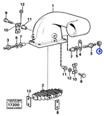 Porca Sextavada - Volvo CE - 7017624 - Unitário