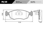 Pastilha de freio - Fras-le - PD/68 - Par