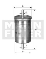 Filtro Blindado do Combustível CHEVETTE 1993 - Mann-Filter - WK48 - Unitário