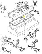 Abraçadeira de Fixação do Tubo de Abastecimento de Óleo - PERKINS - 2481877 - Unitário