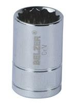 """Soquete Estriado 1/2""""x24mm - Belzer - 204015BR - Unitário"""