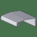 Perfil Puxador Linz 15mm Jateado Anodizado com 6,0m