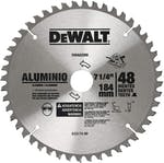 "Disco de Serra Circular 7-1/4"" x 25mm para Alumínio 48 Dentes DeWalt DWA03200"