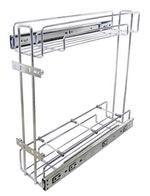 Porta Latas Deslizante Lateral R1 Cromado 125 x 440 x 450mm