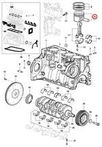 Pistão do Motor - STD - Original Chevrolet - 93346287 - Unitário