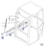 Motor do Limpador de Para-Brisa - Volvo CE - 11802574 - Unitário