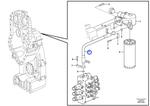 Mangueira do Filtro de Óleo - Volvo CE - 11418056 - Unitário