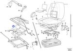 Fole de Ar do Assento do Operador - Volvo CE - 11707350 - Unitário