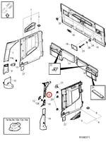 Moldura da Coluna do Para-Brisa Superior Esquerdo - Volvo - 82871533 - Unitário
