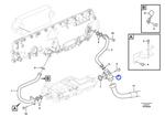 Conexão do Filtro de Óleo - Volvo CE - 17225824 - Unitário