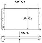 Radiador de Resfriamento - Valeo - TA088002R - Unitário