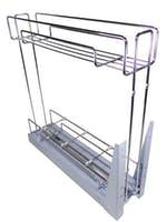 Porta Latas Deslizante R1 Cromado 120 x 425 x 450mm